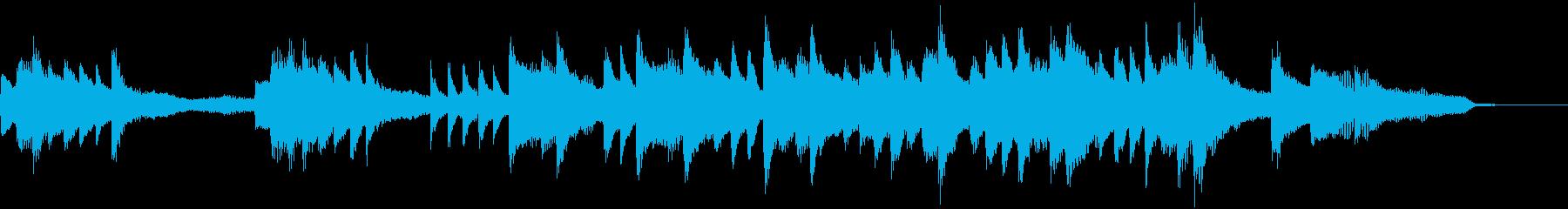 映像・ナレーション用ピアノ演奏(風)の再生済みの波形