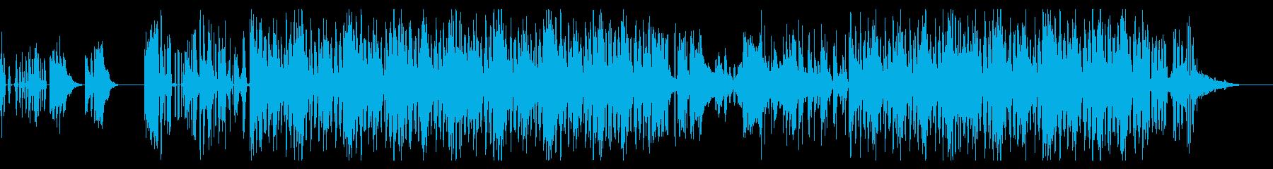 ローファイなヒップホップビートの再生済みの波形