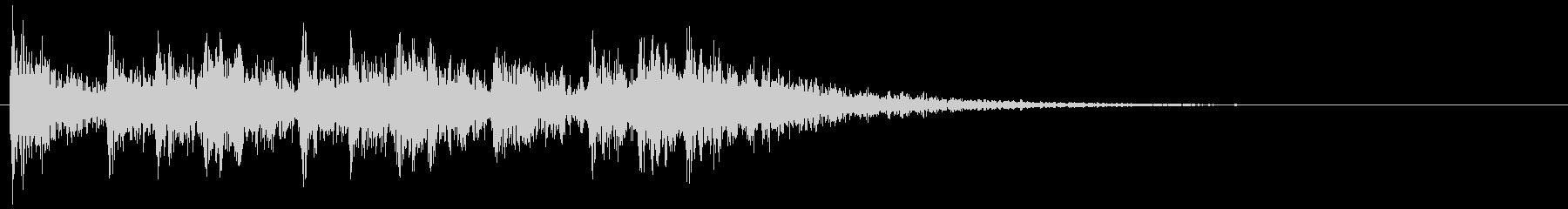 ティンパニとスネアのクリア 場面転換音の未再生の波形