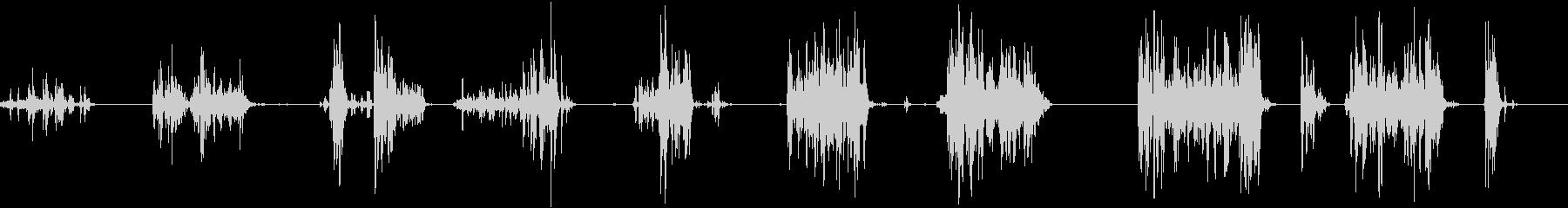 吸い込み液の未再生の波形