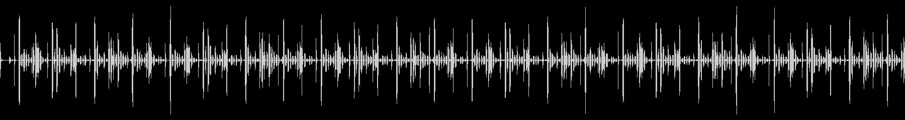 エイリアンの会話の様なリズムループの未再生の波形