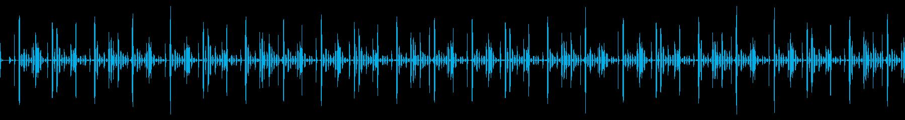 エイリアンの会話の様なリズムループの再生済みの波形