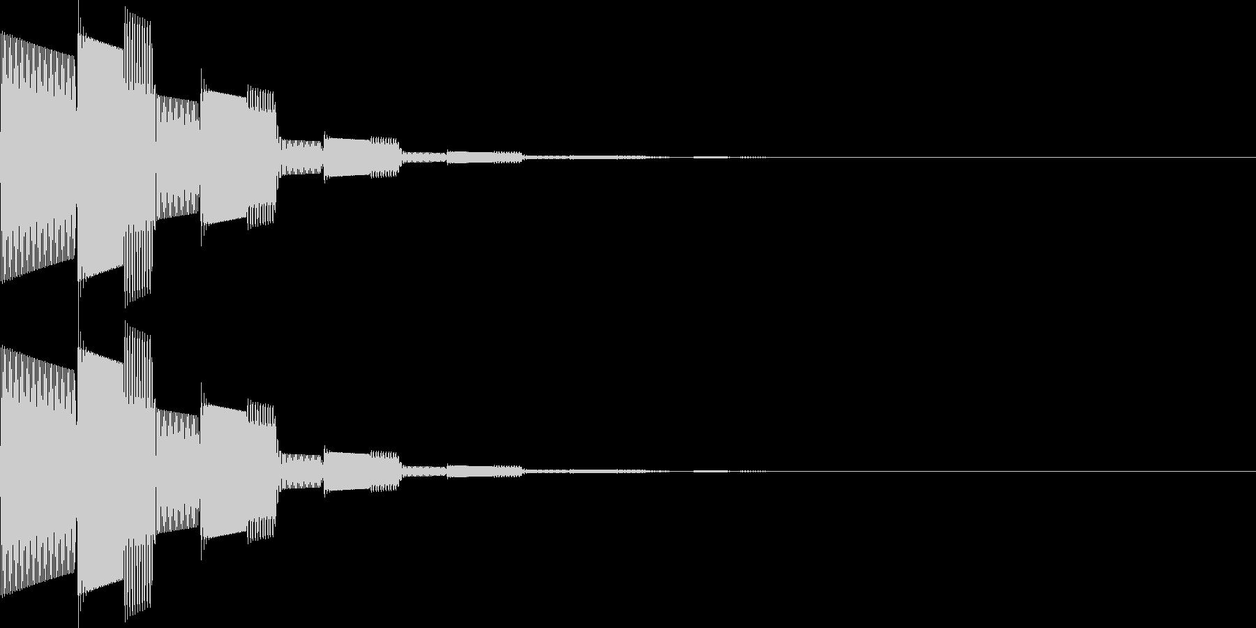 ピロロン(決定、アイテム選択、移動)の未再生の波形