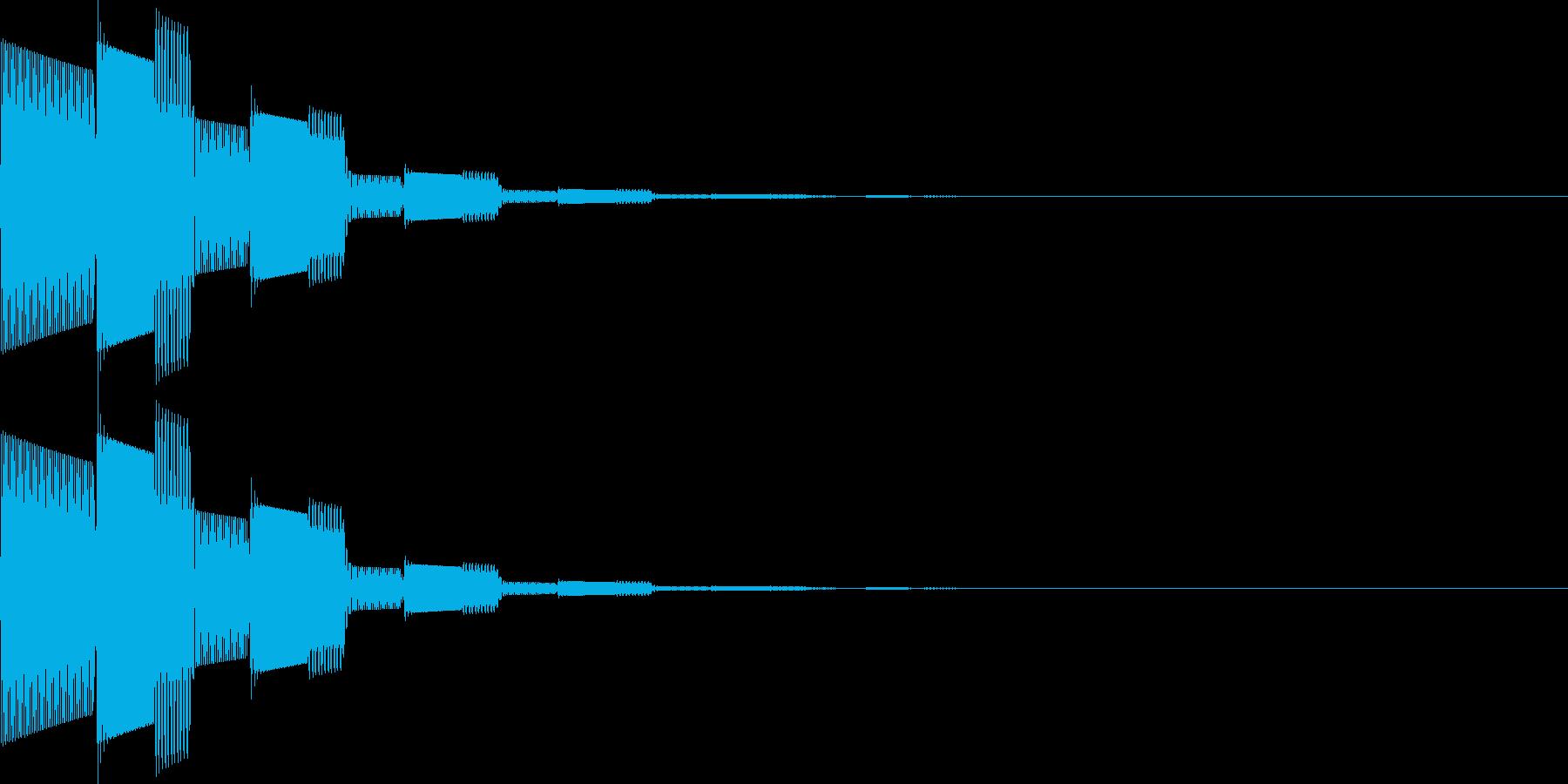 ピロロン(決定、アイテム選択、移動)の再生済みの波形