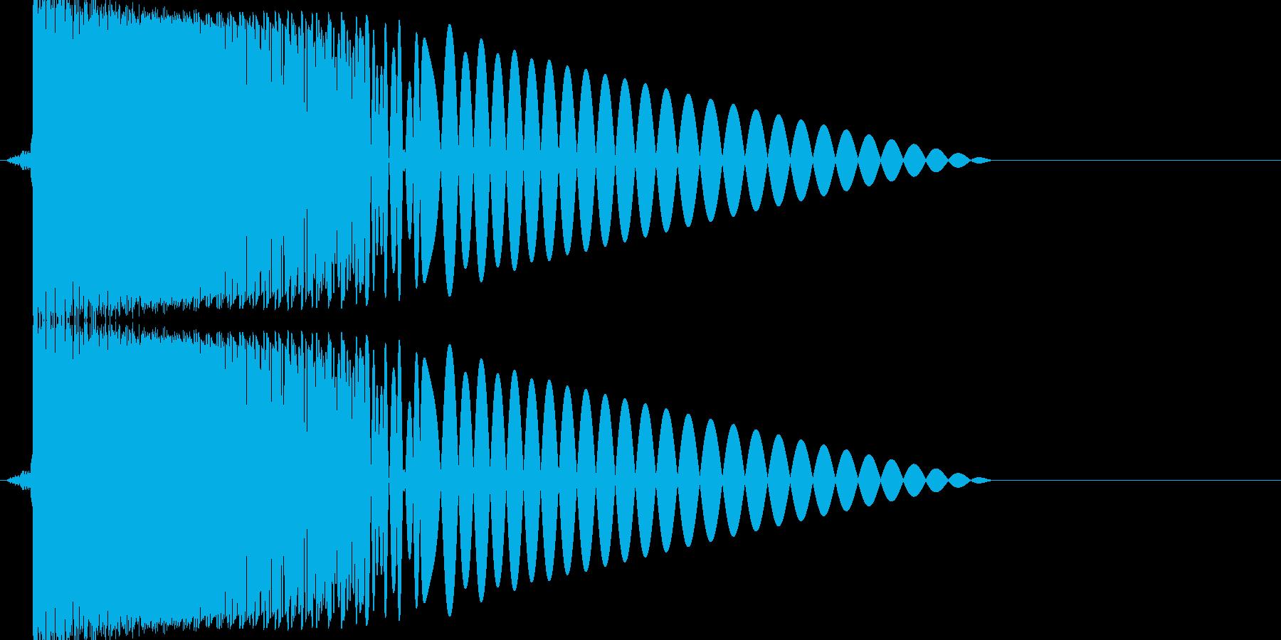ズキュン!というレーザー発射音ですの再生済みの波形