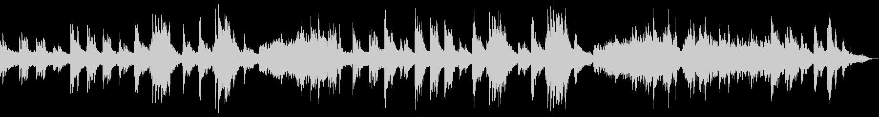 ピアノとシンセによる雪国のイメージの未再生の波形