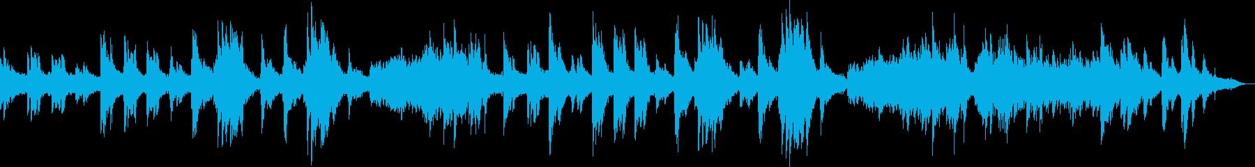 ピアノとシンセによる雪国のイメージの再生済みの波形
