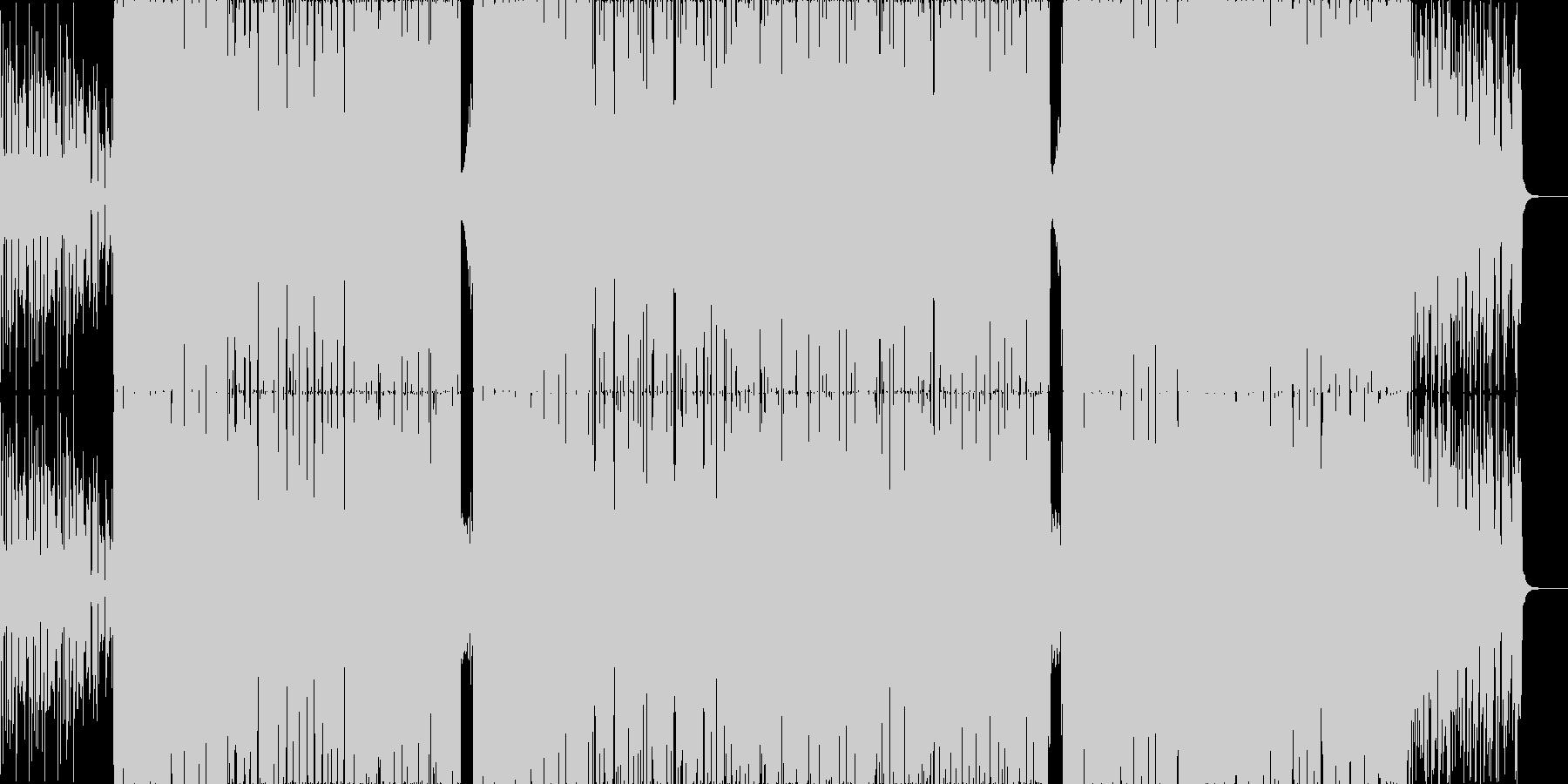 優しくて温かいラップ調のロックの未再生の波形
