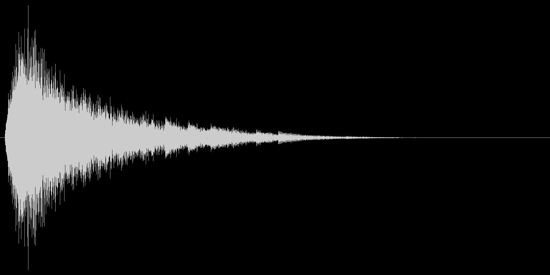 シュー...(魔法詠唱、雪の結晶)の未再生の波形
