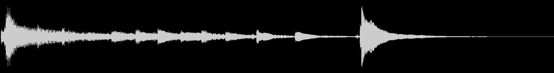 箏を使った和風ジングル 1の未再生の波形