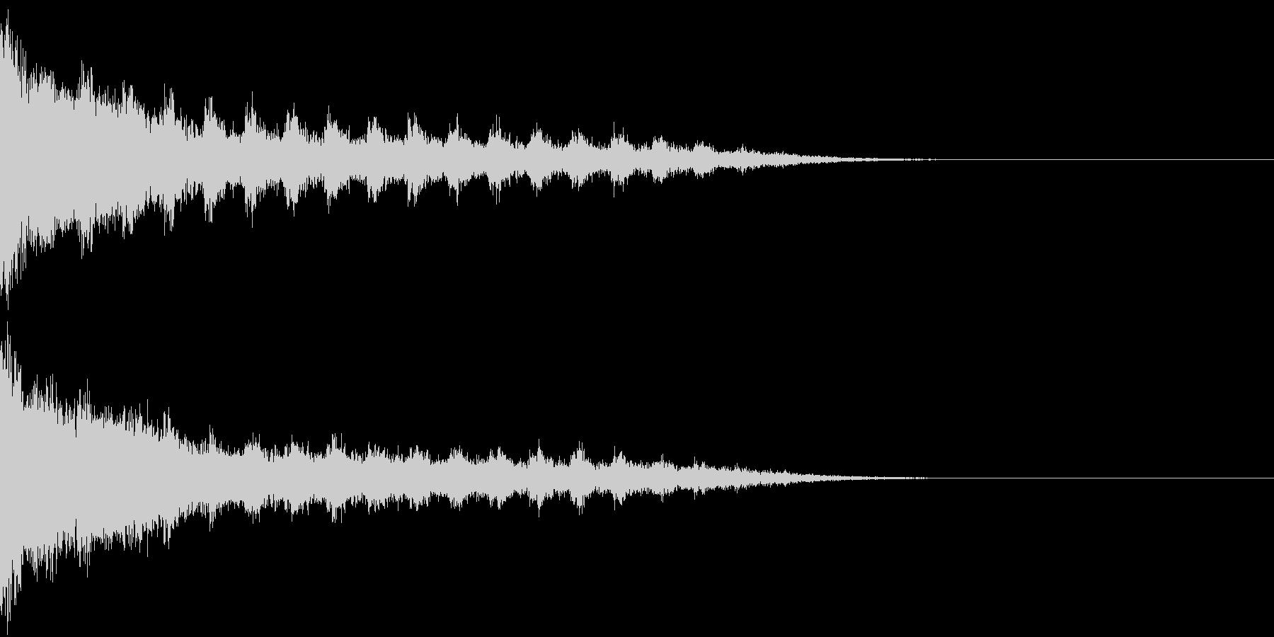 刀 剣 カキーン シャキーン 目立つ05の未再生の波形