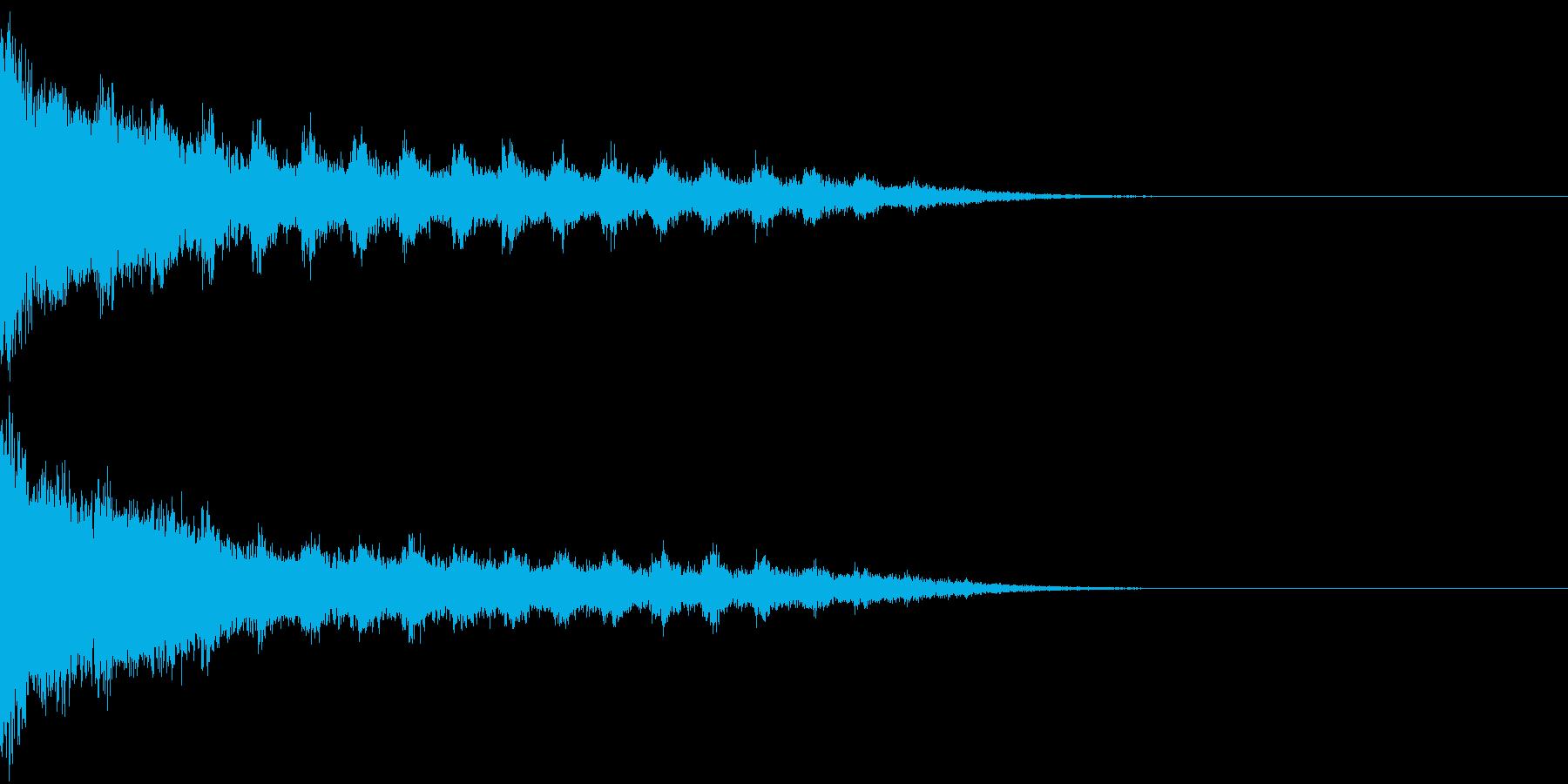 刀 剣 カキーン シャキーン 目立つ05の再生済みの波形