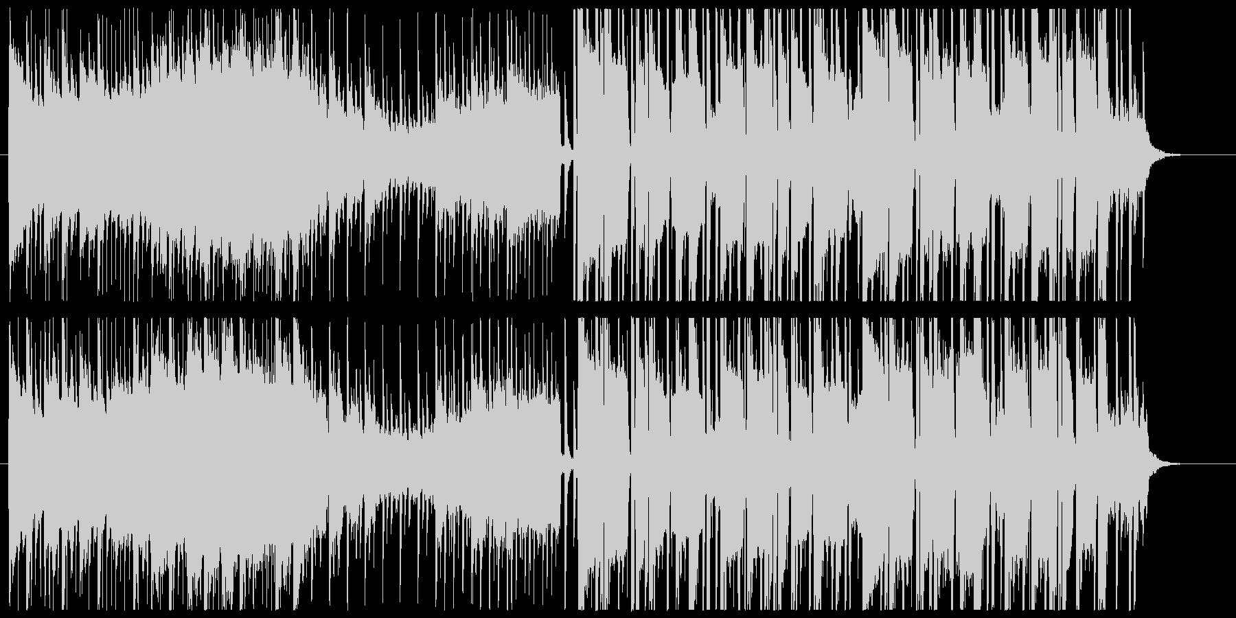 落ち着きのある変則ビートの未再生の波形