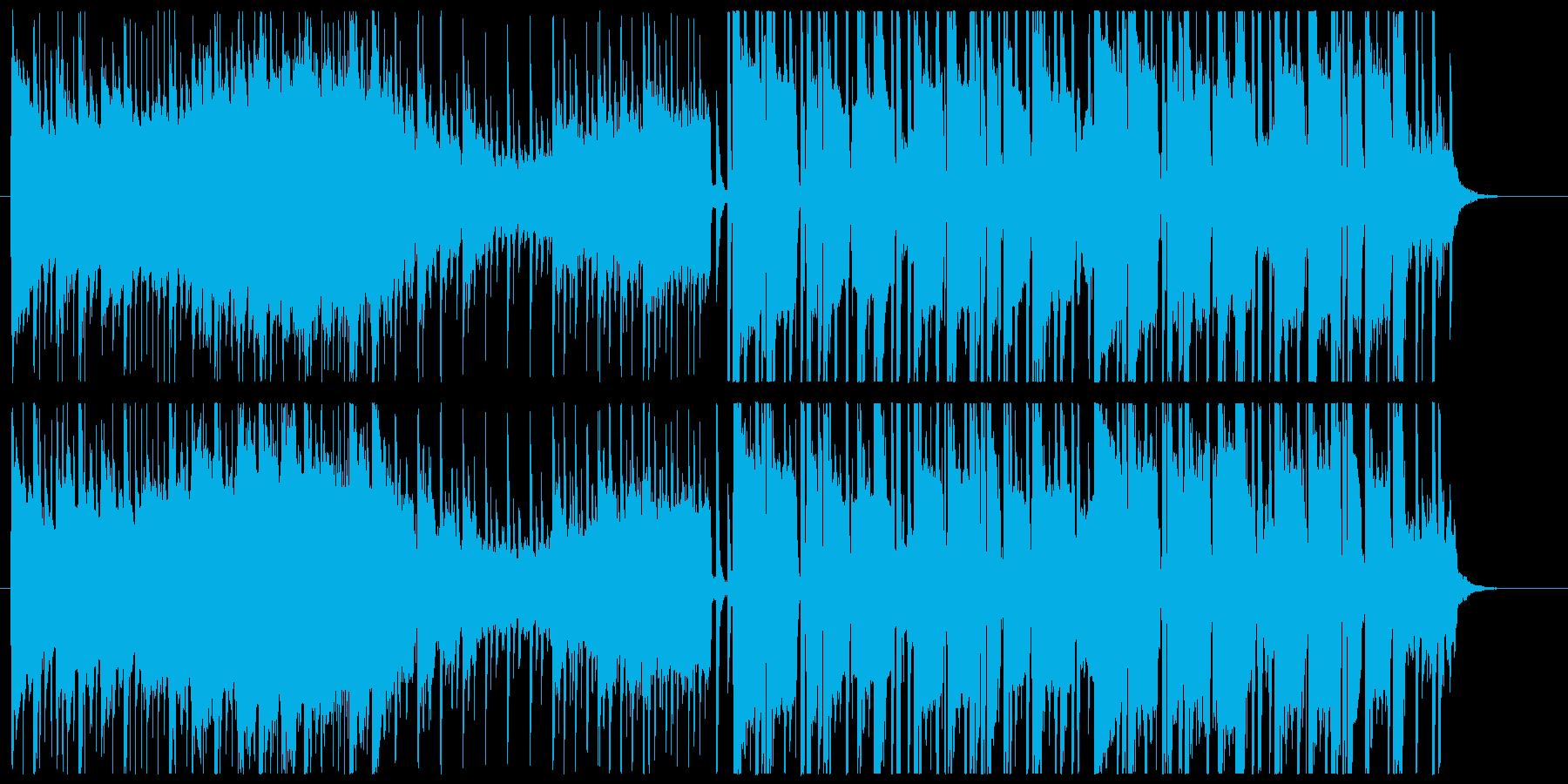 落ち着きのある変則ビートの再生済みの波形