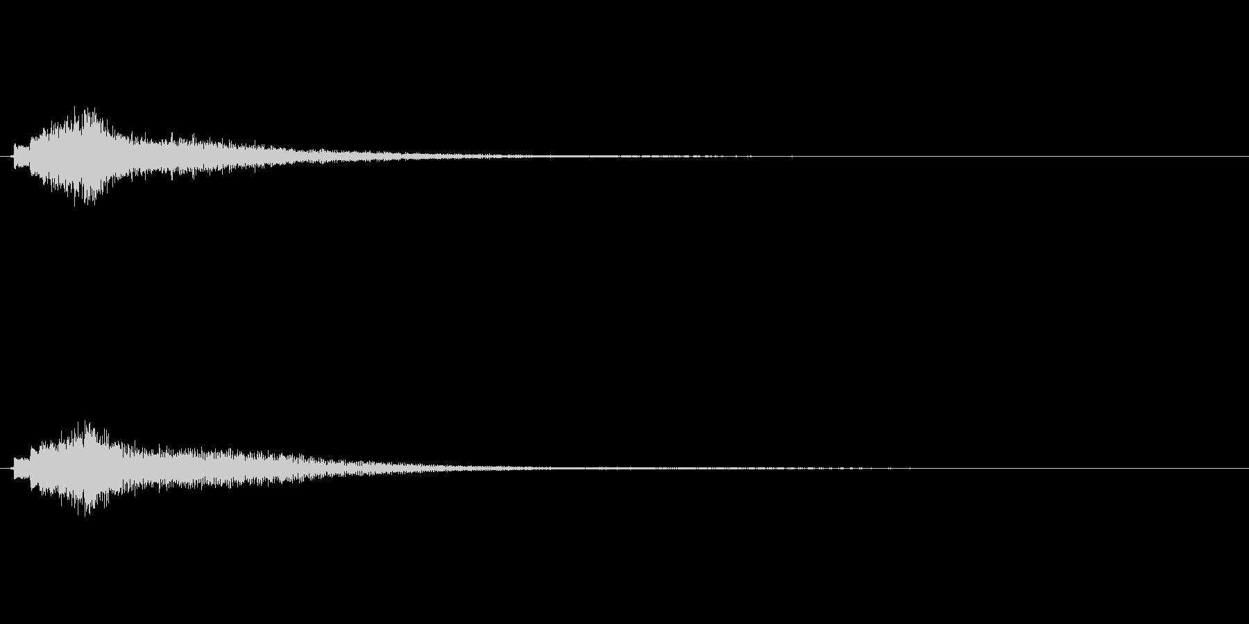 琴の上昇音その4エフェクト有の未再生の波形