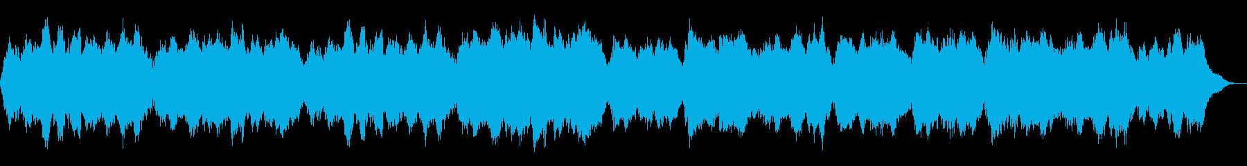 暖かく穏やかなヒーリングBGMの再生済みの波形