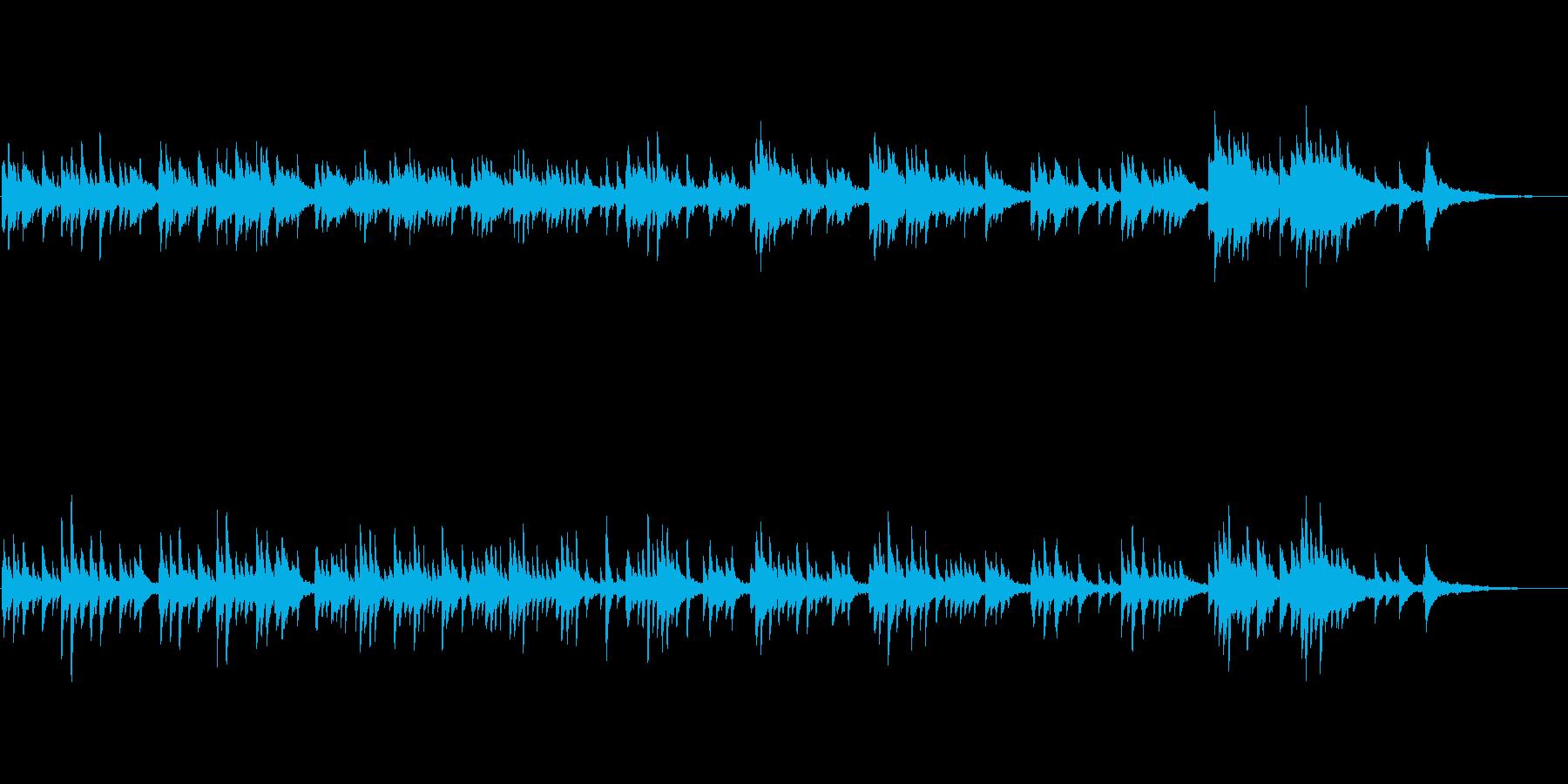 和風なピアノ曲の再生済みの波形