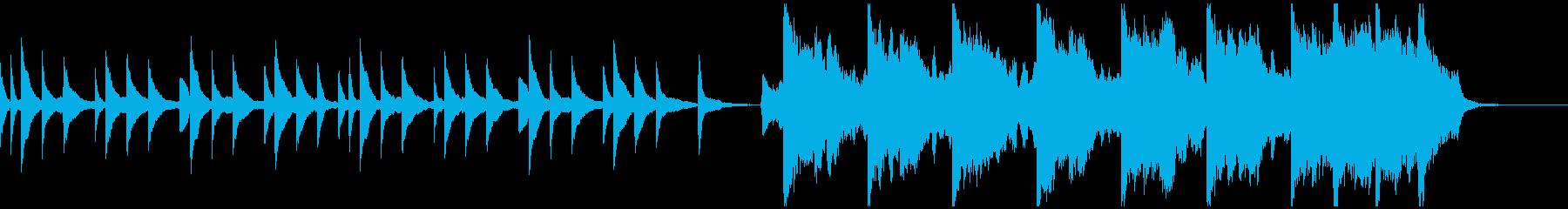 ピアノとバイオリンによる悲しい曲 Aの再生済みの波形