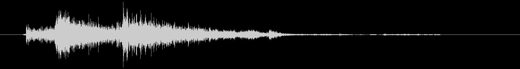 ズドーン (砲弾が建物を破壊する音)の未再生の波形