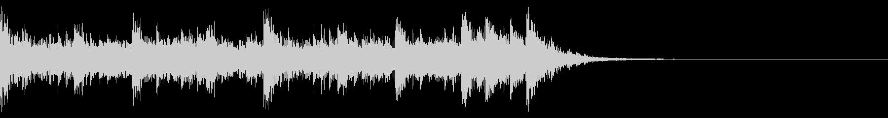 ミニマルなロック 楽しいCMに 12秒の未再生の波形
