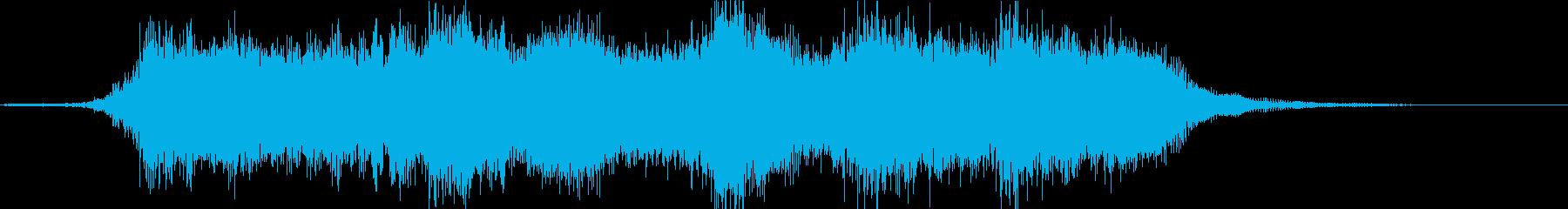 表彰式のファンファーレ風ジングルの再生済みの波形