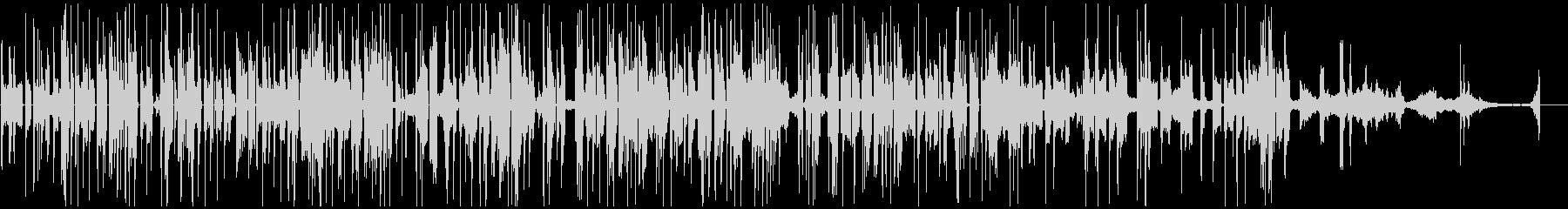 様々な金属音で構成されたテクノポップの未再生の波形