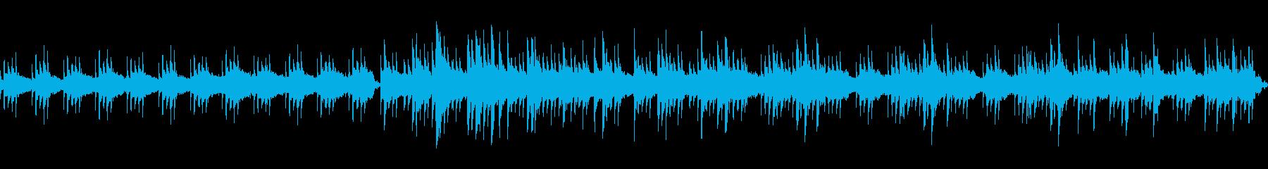 煌びやかで美しいピアノストリングスの再生済みの波形
