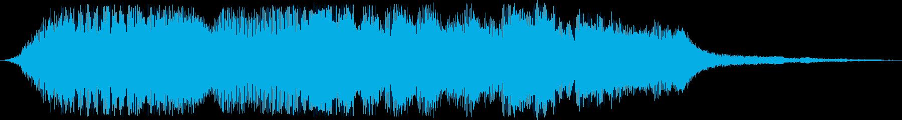 尺八の再生済みの波形