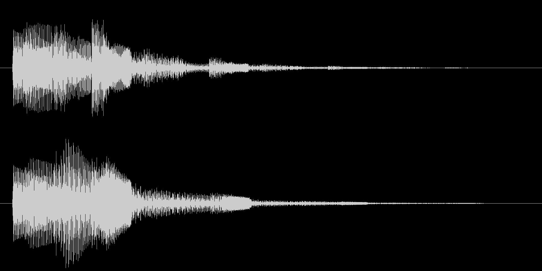 カウントダウン 単発 決定 選択 タララの未再生の波形