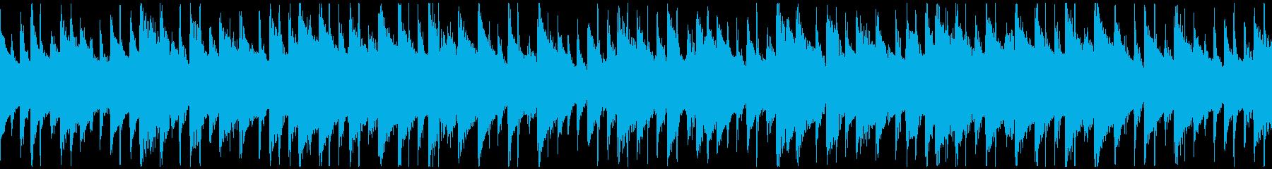 平和な雰囲気のBGM(ループ)の再生済みの波形