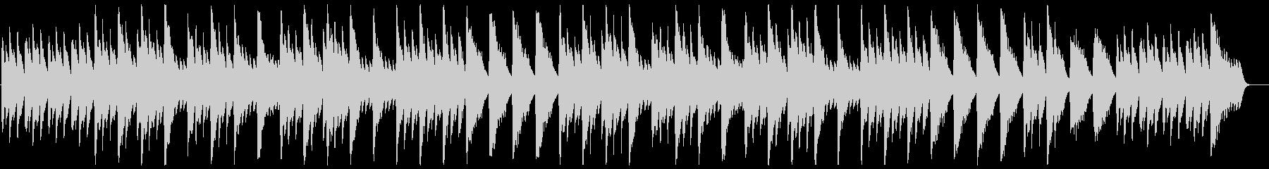 ゆっくりした温かみのあるオルゴールの曲の未再生の波形