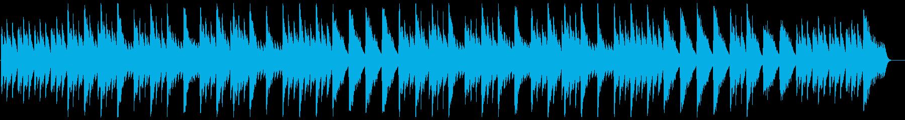 ゆっくりした温かみのあるオルゴールの曲の再生済みの波形