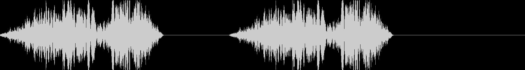 DJプレイ スクラッチ・ノイズ 197の未再生の波形