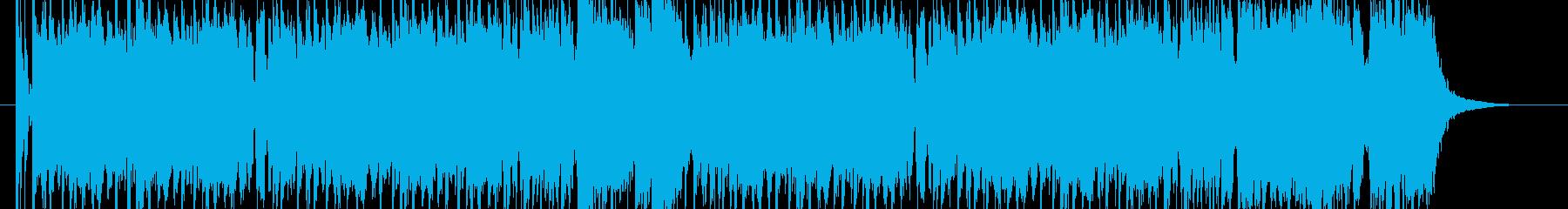 ワクワクするようなロックサウンドの再生済みの波形