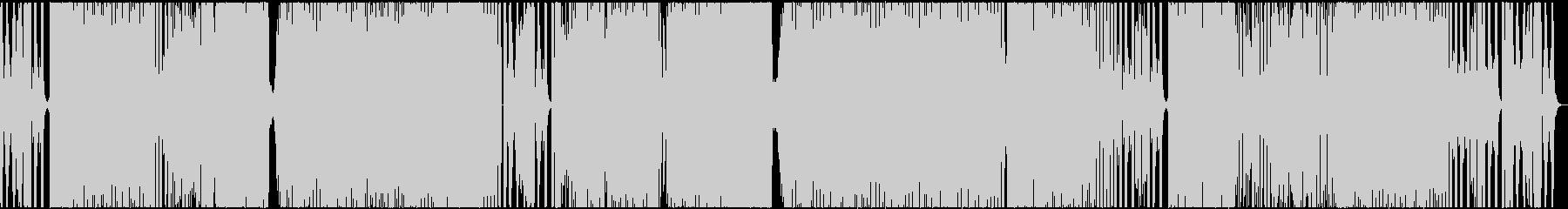 ピコピコと今風シンセが合わさったテクノの未再生の波形