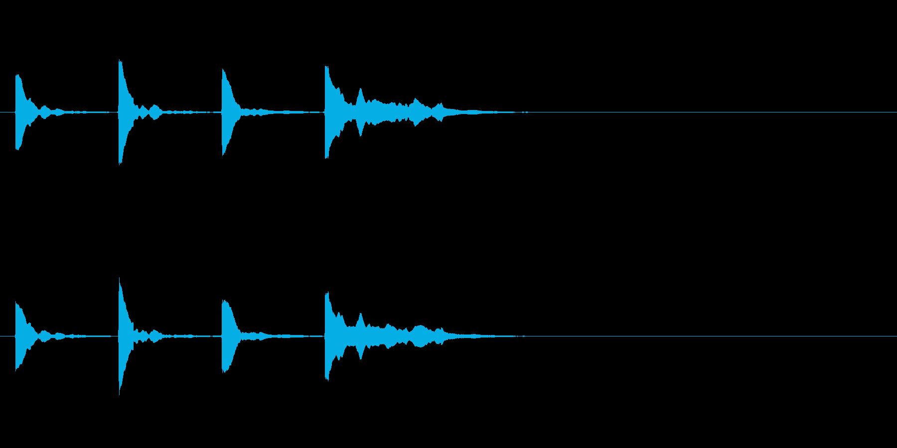 カウントダウン効果音その2_keyCの再生済みの波形