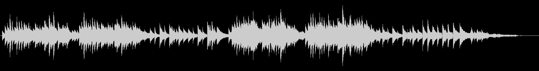 ほのぼのピアノ曲の未再生の波形