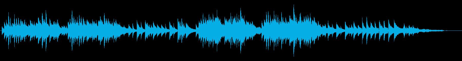 ほのぼのピアノ曲の再生済みの波形