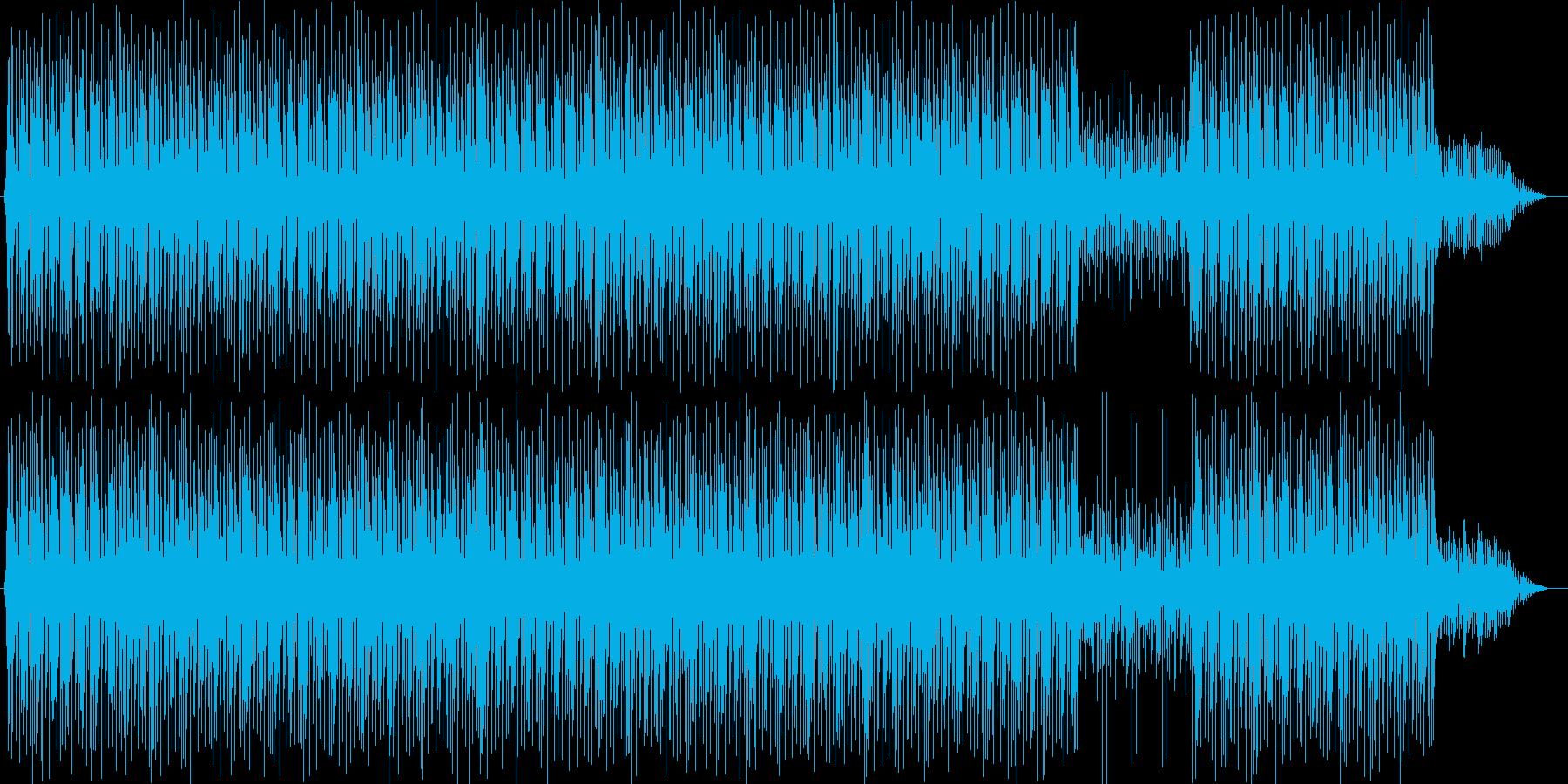 明るく躍動感のあるテクノポップですの再生済みの波形