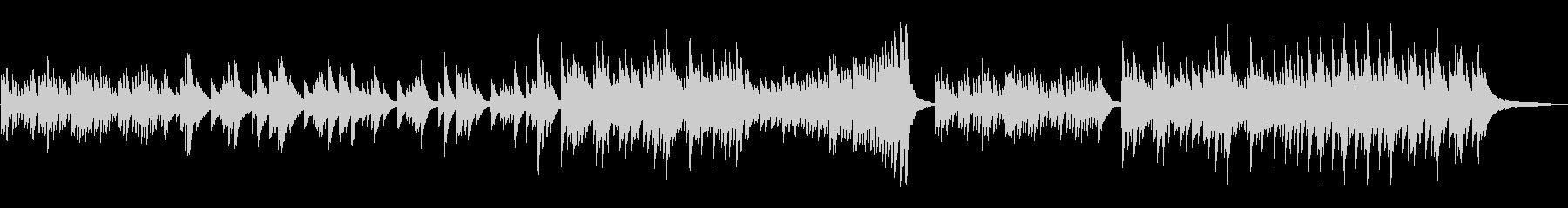 切ないピアノのBGMの未再生の波形