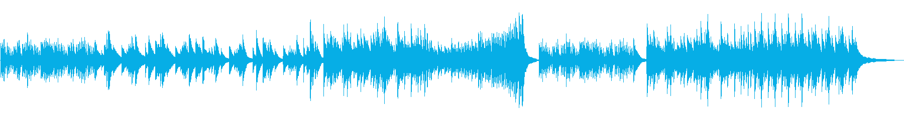 切ないピアノのBGMの再生済みの波形