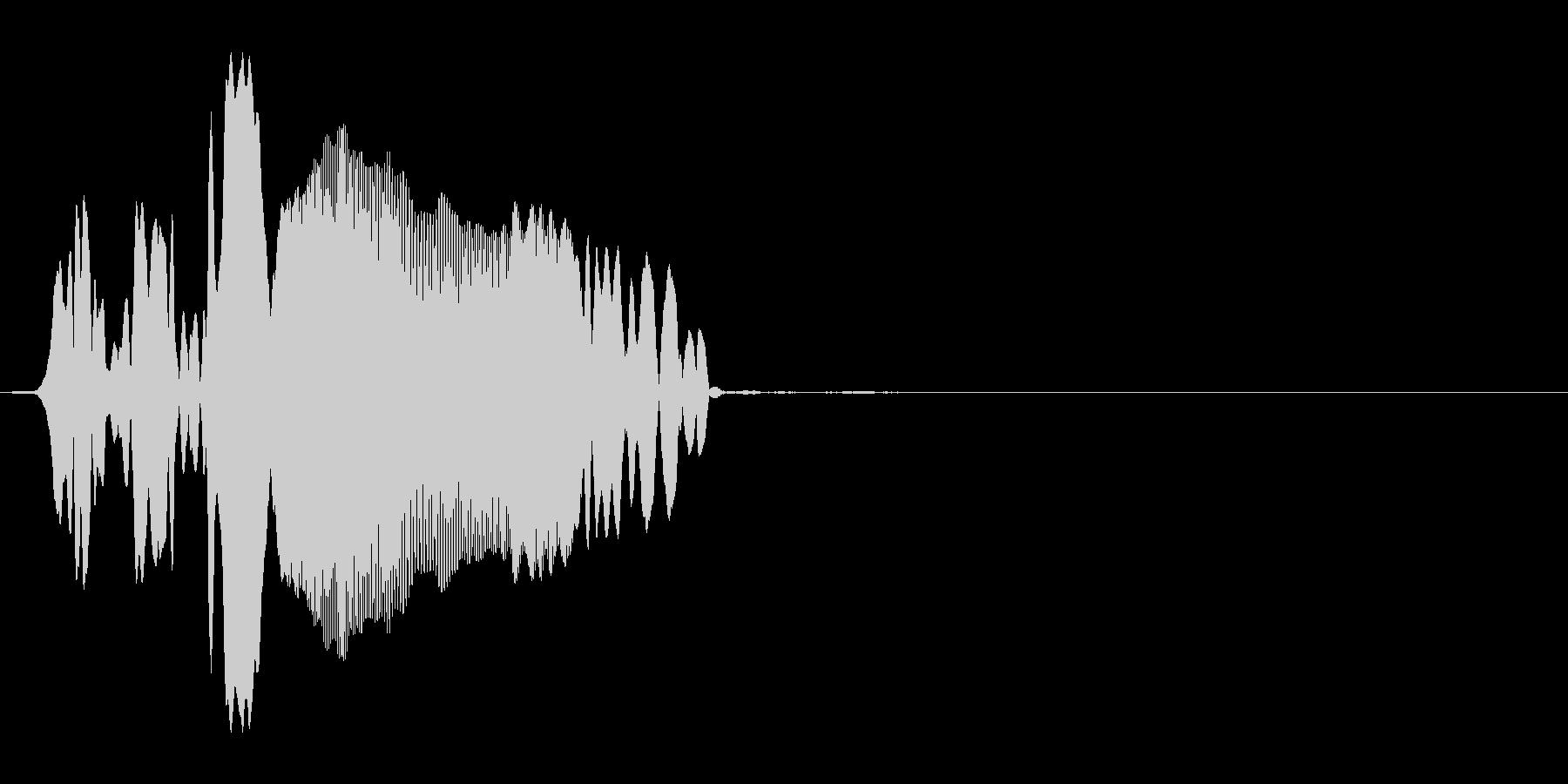 ピュー(動画・画面の枠が開くor閉じる)の未再生の波形