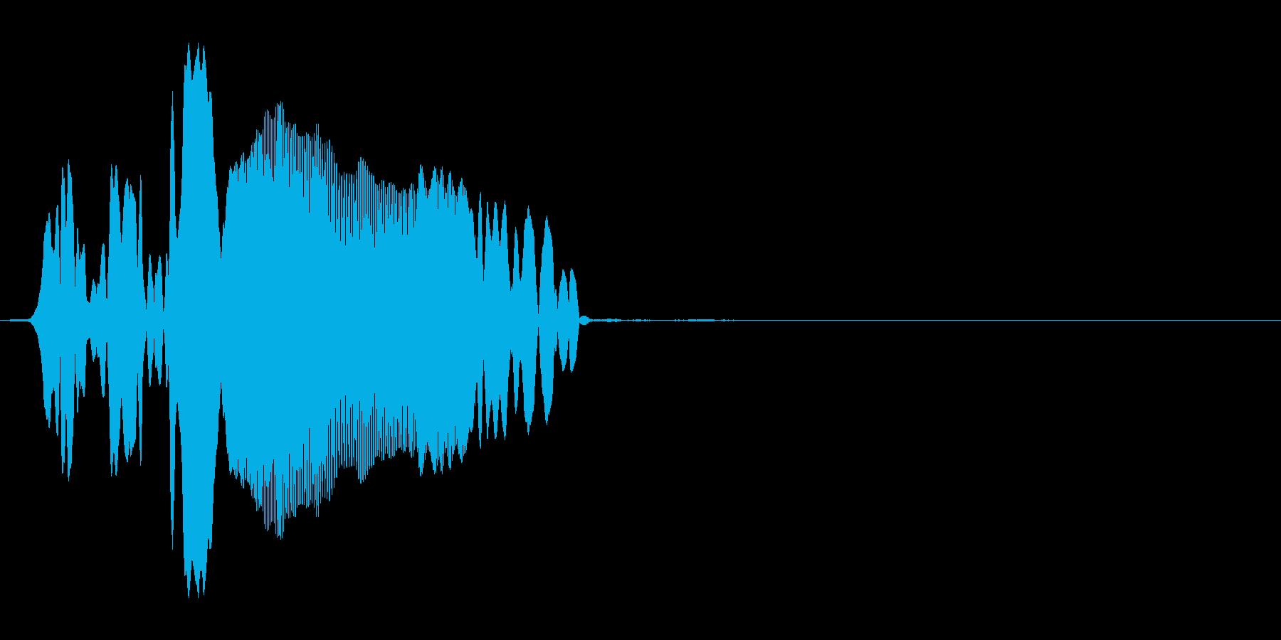 ピュー(動画・画面の枠が開くor閉じる)の再生済みの波形