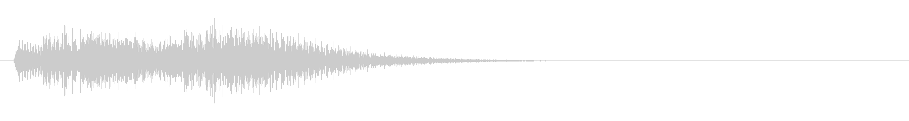アプリの決定音などに使える シャラン音の未再生の波形