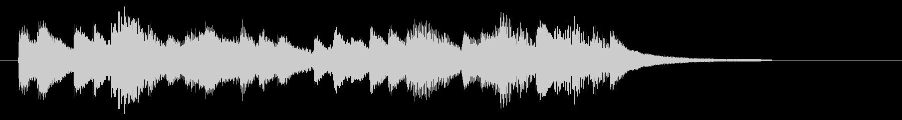 明るく爽快感のあるピアノジングル 9秒の未再生の波形