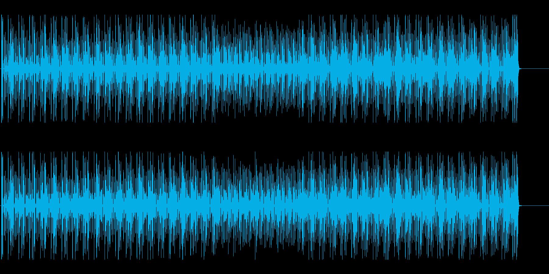 クイズの考え中を意識した淡々としたテクノの再生済みの波形