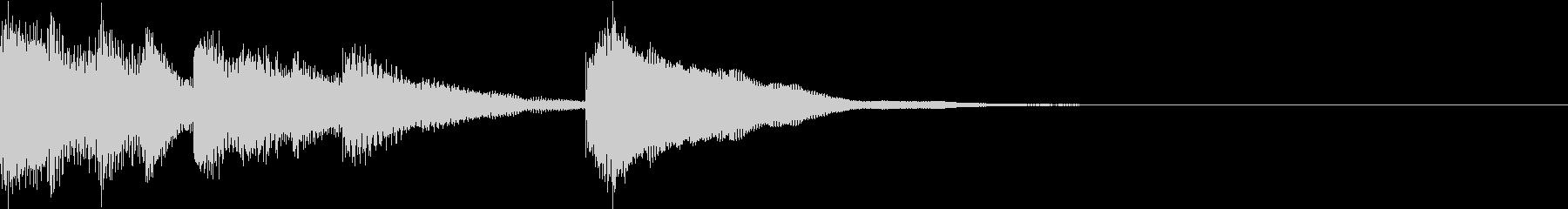 ジングル 明るい 爽やかな鉄琴の未再生の波形