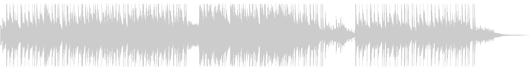 切ないピアノメインのHIPHOP風の未再生の波形