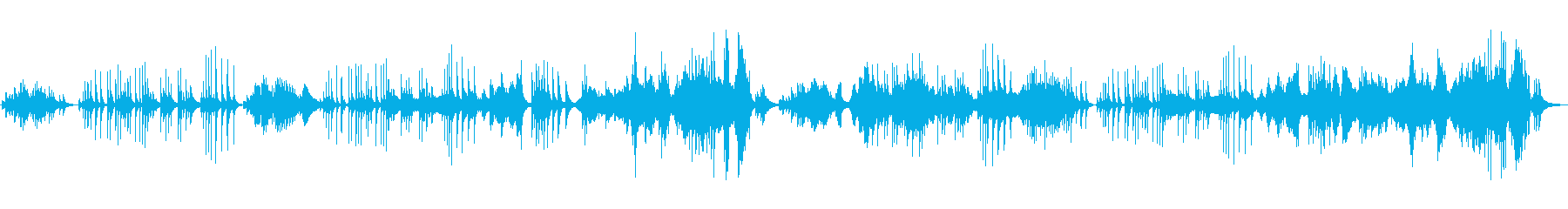 伝統的な和風の旋律の再生済みの波形