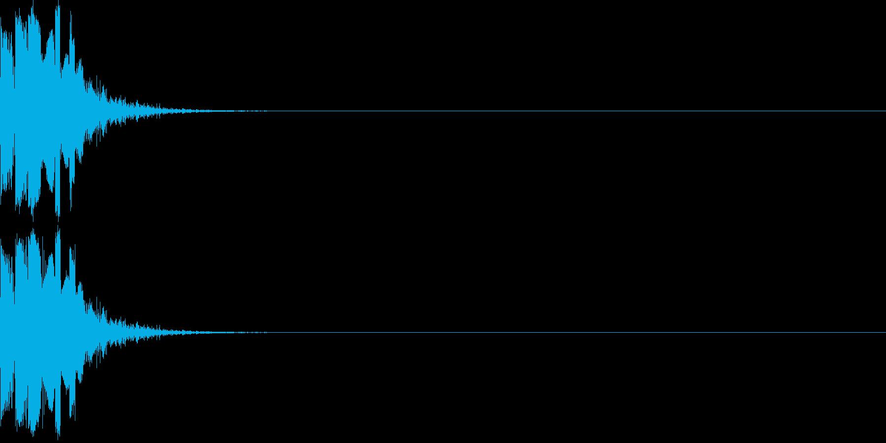 アタック系の音の再生済みの波形